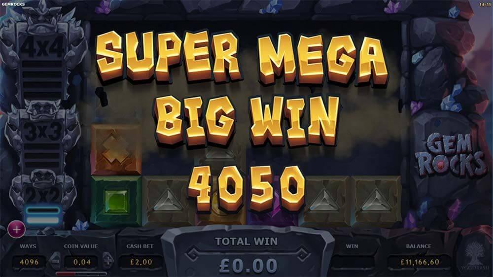 Gem Rocks Slot Wins