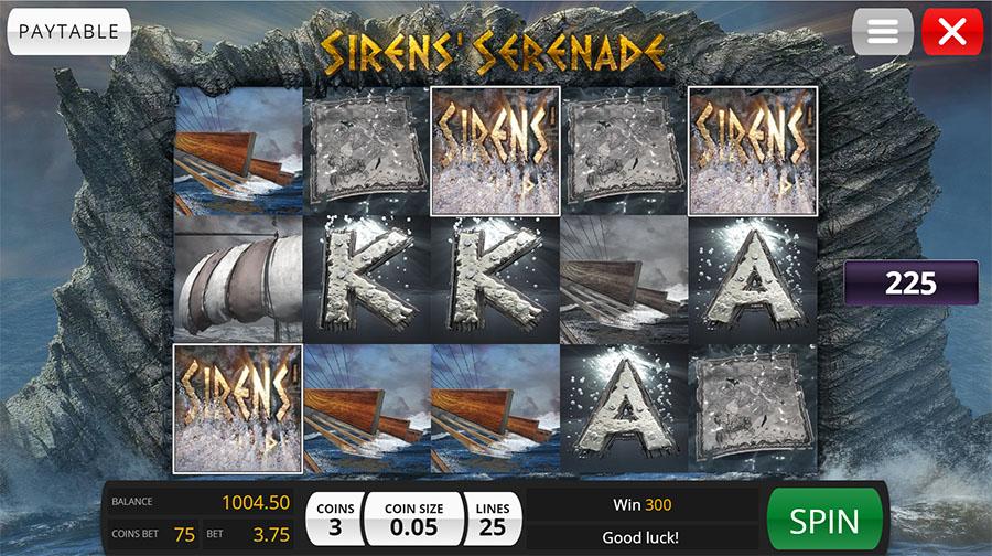 Sirens Serenade Slot Paytable