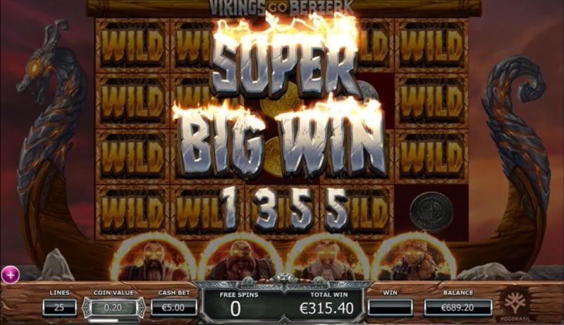 Viking Go Berzerk Slots Gameplay