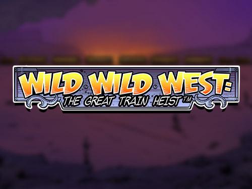 Wild Wild West: The Great Train Heist Slot Logo No Deposit Slots