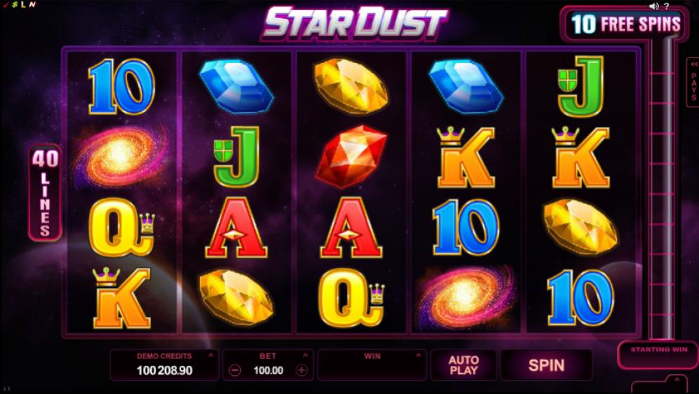 Stardust Slots Gameplay