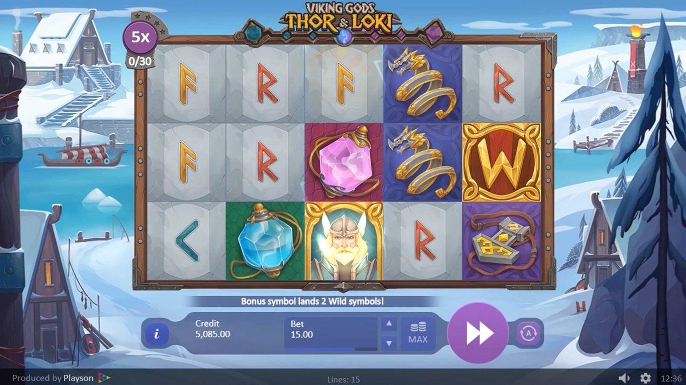 Viking Gods Slots Gameplay