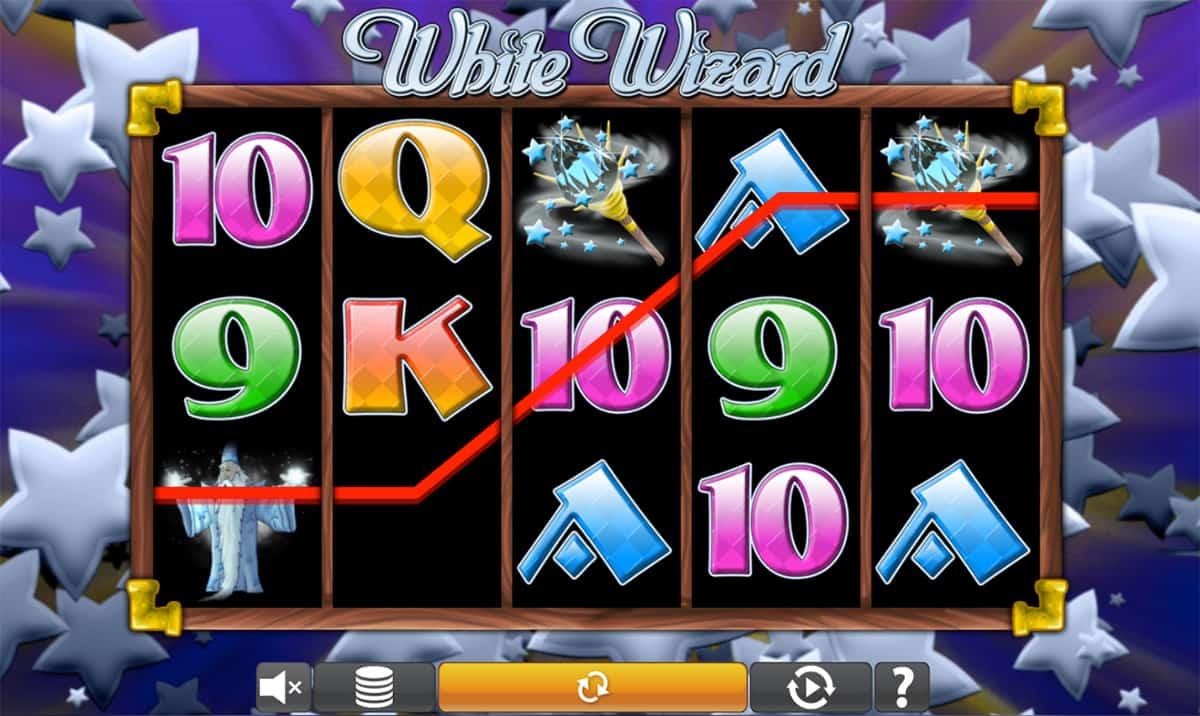 White Wizard Slot Reels
